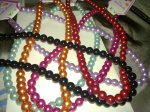 Pearl beads in different colors